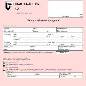 Formulář: Žádost o příspěvek na bydlení 2017